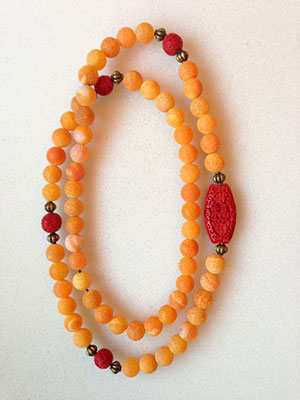 Orange Cinnabar Necklace