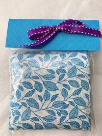 Flora Blue Leaves Sachet