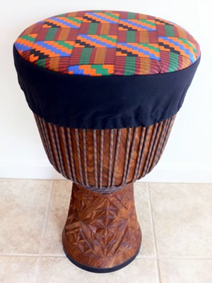 Orange Kente Hat